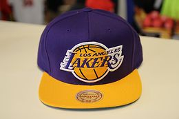 LOS ANGELES LAKERS MITCHELL&NESS 2 TONE SNAPBACK